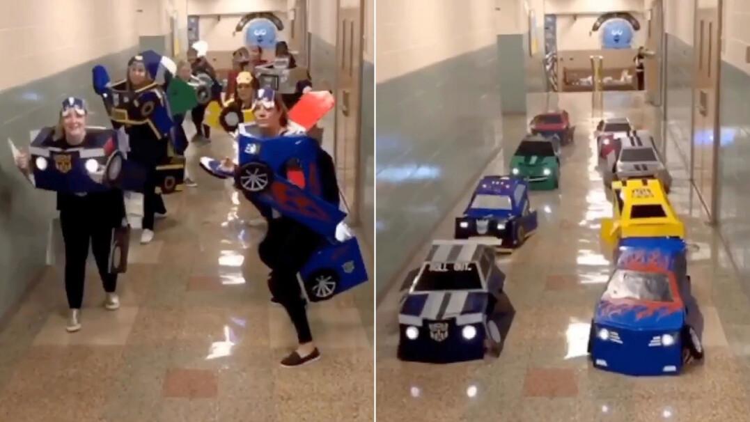 Nauczycielki zaskoczyły uczniów. Przebrały się za Transformersy