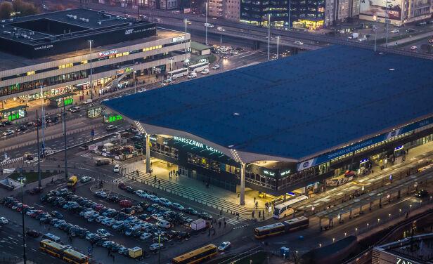 Dworzec Centralny z lotu ptaka Shutterstock