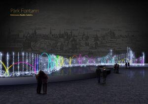 Świąteczny skład metra i zimowy pokaz świateł na Podzamczu