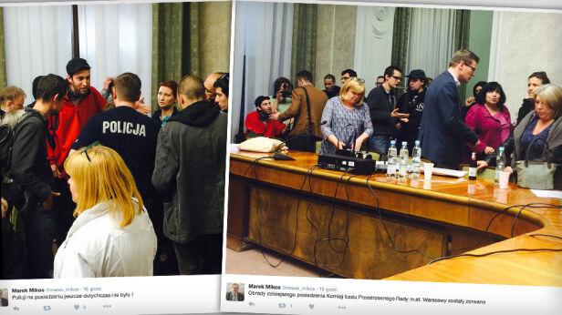 Aktywiści przerwali obrady komisji Marek Mikos/ Twitter