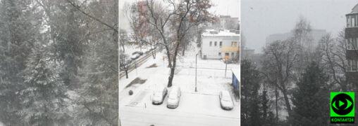 Zima nie daje za wygraną. Miejscami zrobiło się biało