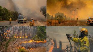 Zniszczone domy, spalona ziemia. Ewakuacja ważniejsza niż obostrzenia epidemiczne