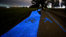 Świecąca ścieżka rowerowa