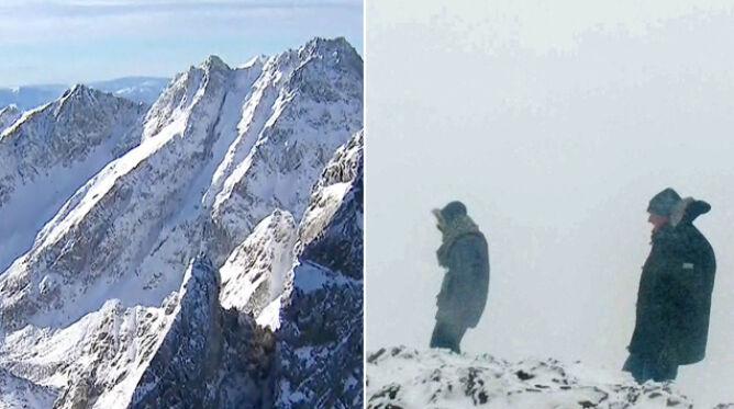 Góry teraz są bardzo groźne. <br />Zlodowaciały śnieg na szlakach