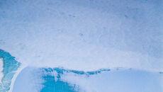 Spirale topniejącego śniegu nad wyspą Ellesmere'a