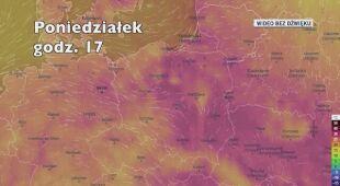 Temperatura w ciągu kolejnych pięciu dni (Ventusky.com)